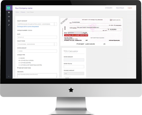 Cheque Printing Features